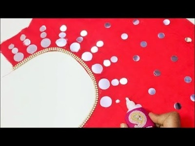 Hand Made Mirror Design Blouse Simple & Easy To Make
