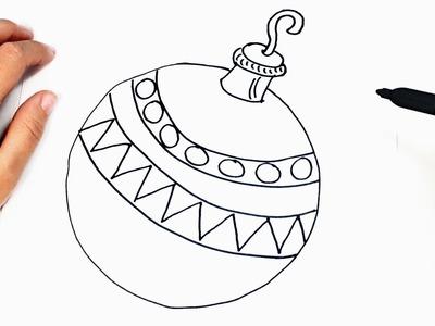 How to draw a Christmas Ball | Christmas Drawings