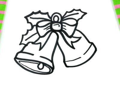 How To Draw A Christmas Bells Coloring Pages For Kids
