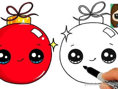 How to Draw a Christmas Ornament Easy and Cute