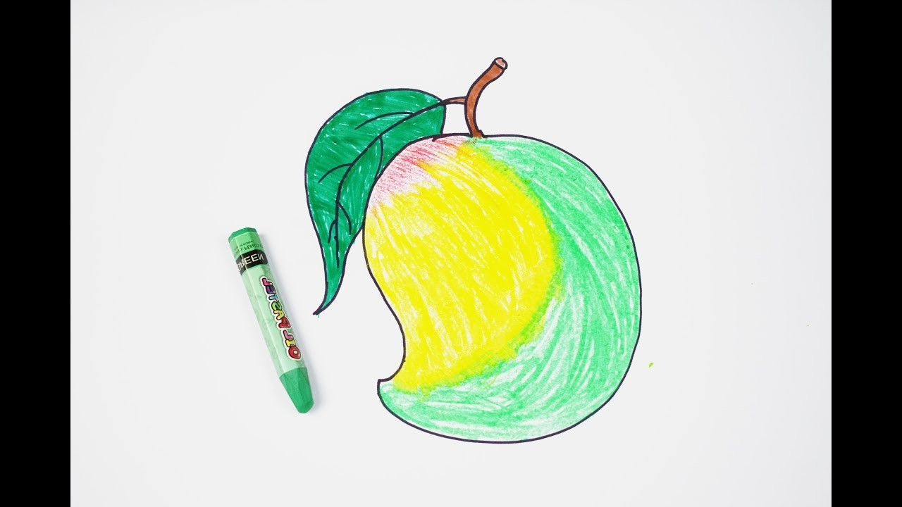How To Draw A Mango For Children Easy And Step By Step