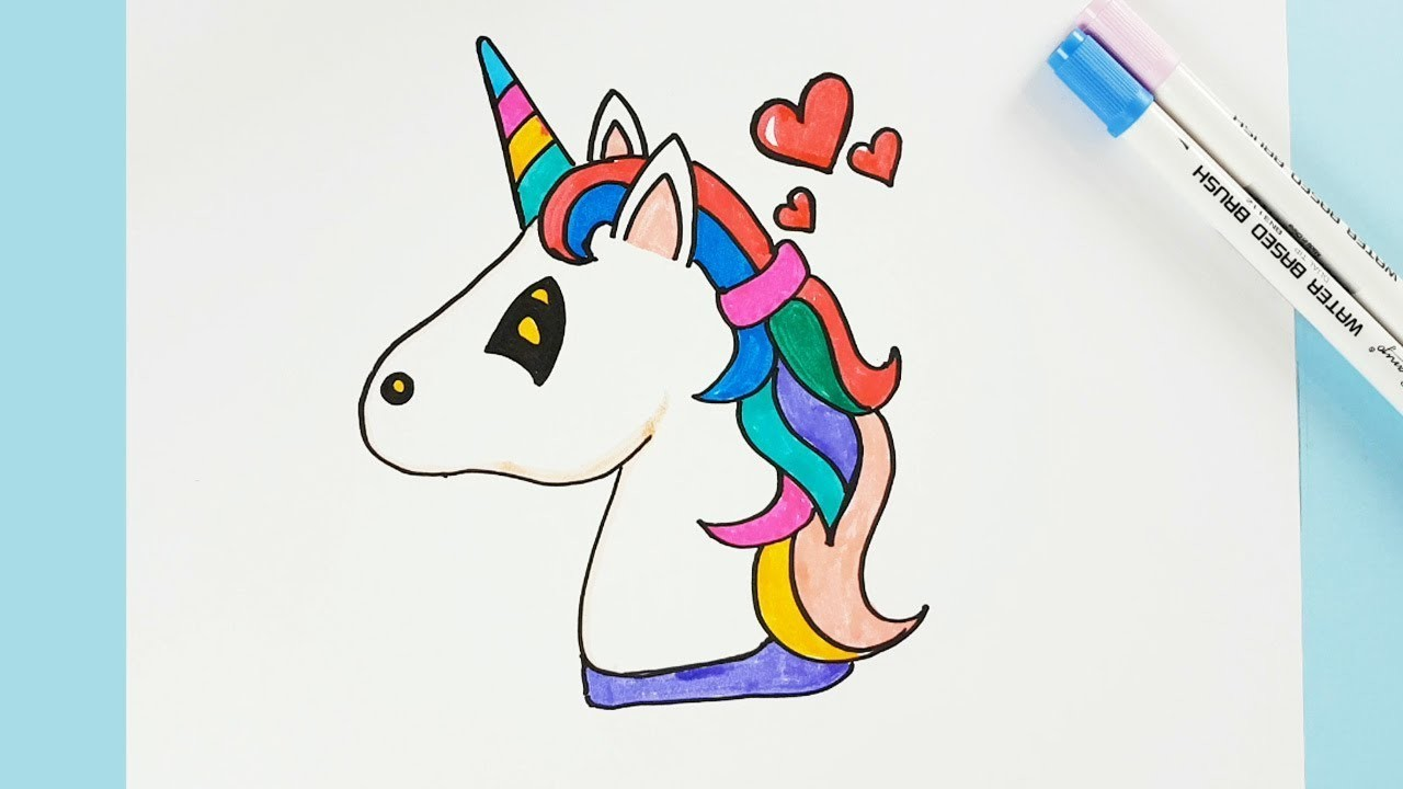 How To Draw A Unicorn Easy Step By Step Cartoon Unicorn Drawing