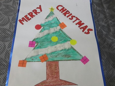HOW TO DRAW AND DECORATE CHRISTMAS TREE -(SCHOOL PROJECT)