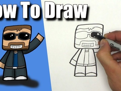 How To Draw SSundee!- EASY - Step By Step