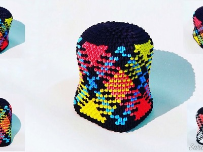 How to make 3d origami money box 18