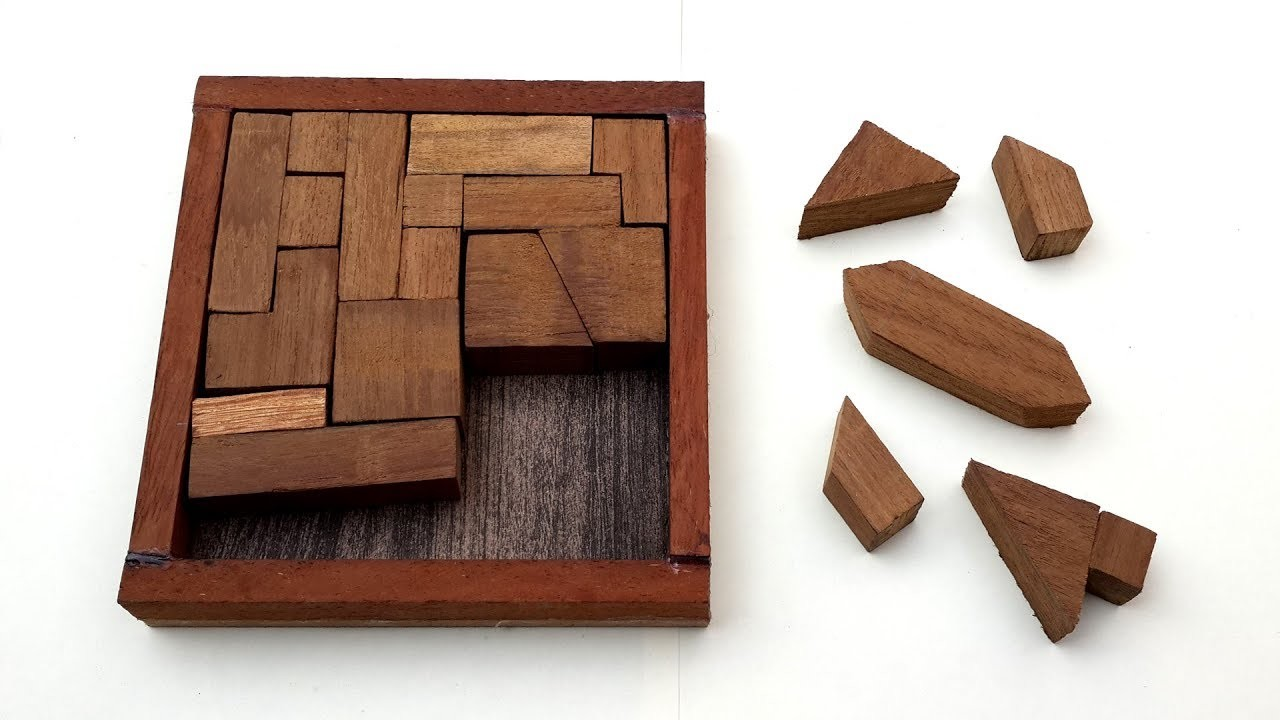 How to Make a Wooden Puzzle with Difficult Design - DIY