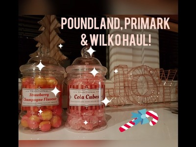 HUGE PRIMARK, POUNDLAND & WILKO HAUL | CHRISTMAS HOMEWARE | GIFT IDEAS |