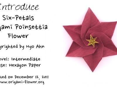 Paper Introducing A Six Petals Origami Poinsettia Flower Hyo Ahn