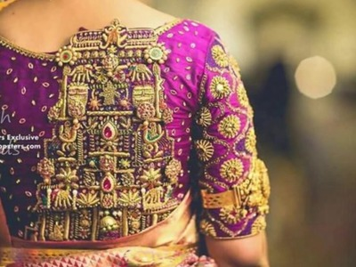 Latest Temple Design Embroidery || Hand embroidery Design collections