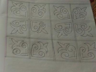 Nakahi kantha design tutorial _30.Hand embroidery design.নকশীকাঁথার নকশা ডিজাইন
