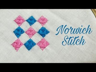 Norwich Stitch (Hand Embroidery Work)