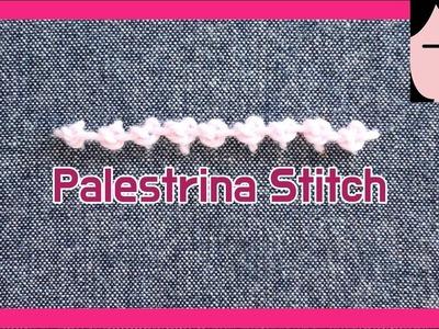 Palestrina stitch hand embroidery tutorial