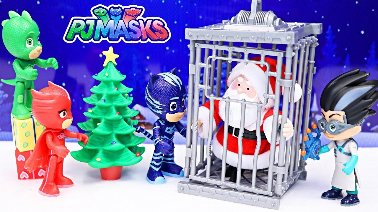 PJ Masks Romeo Takes Over Christmas Eve and Cages Santa