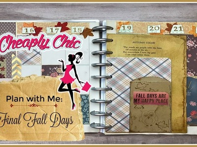 Plan with Me: Happy Planner - Final Fall Spread for 2017!