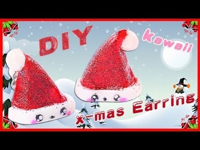 Playdough Mini Christmas Hat Earring For Merry Christmas! DIY |SunnyD Toys & Playdoh