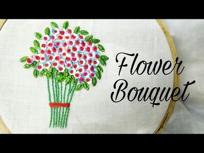 Sequins.Tinsel & French Knot Bouquet (Hand Embroidery Work)