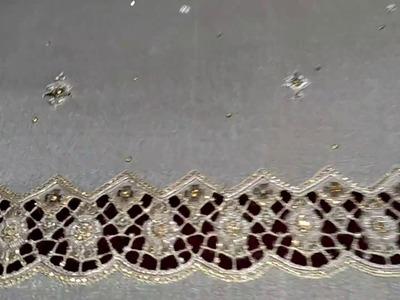 Sharara cutwork embroidery | Amazing Hand embroidery cutwork | Part 2-2 HD