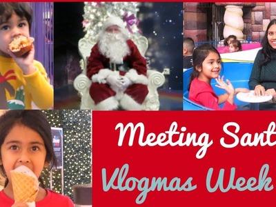 Weekend Vlog I Meeting Santa I Christmas party I Cooking with husband I Vlogmas week 2