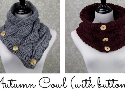 Autumn Leaf Cowl (with buttons)