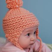 Baby pompom hat