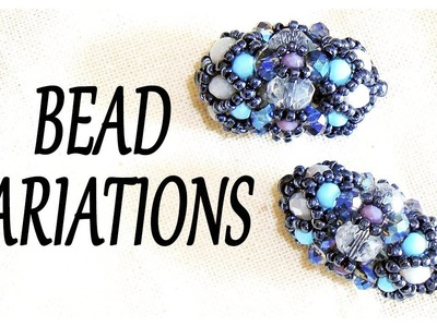 Bead Variations :) Shiny beaded component for earrings or bracelets - DIY beads jewelry
