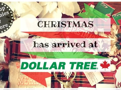 Big DOLLAR TREE Haul October 2017 ❄️???????? Christmas ornaments & DIY supplies | Canadian Dollar Tree
