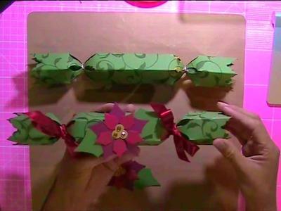 Christmas Cracker - How to make this Beautiful Christmas Cracker with Becka B
