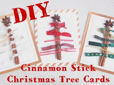 Cinnamon Stick Christmas Tree Cards ♥ 12 DIYs of Christmas