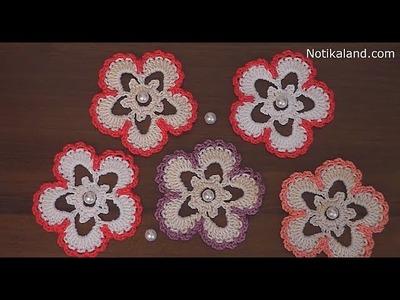 Crochet flower applique EASY Tutorial