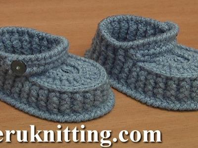 Crocheted Footwear for Babies Tutorial 64 Part 3 of 3