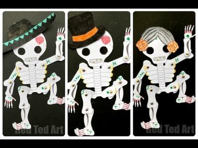 Day of the Dead Puppet DIY   Easy Paper Puppet Templates   Sugar Skull DIYs