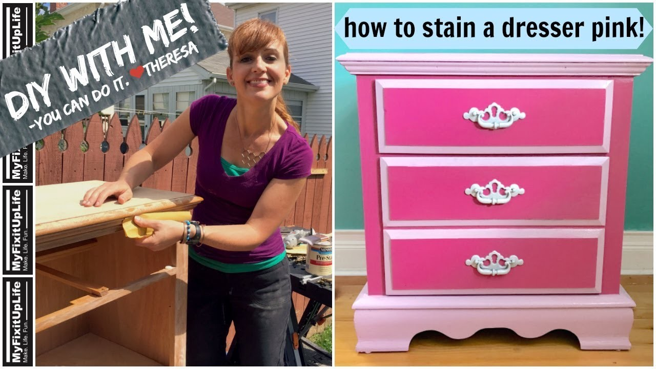 DIY Makeover! HOW TO STAIN A WOOD DRESSER FOR YOUR HOME from MyFixitUpLife