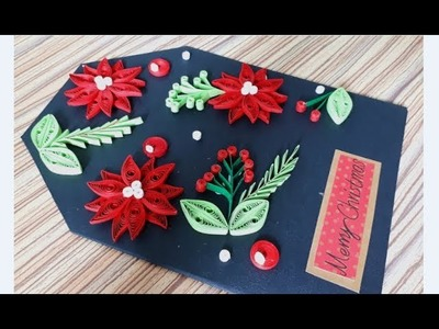 DIY Paper Quilling -Christmas Card - Easy & Simple  Christmas design 08