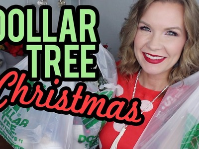 Dollar Tree Christmas Decor Haul 2016! | LipglossLeslie