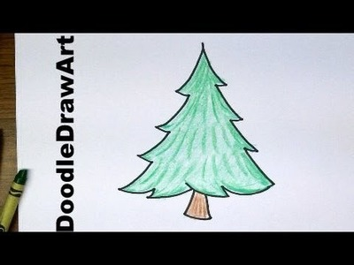 Drawing: How To Draw Cartoon Pine Trees - Easy to Draw for Beginners and for kids!
