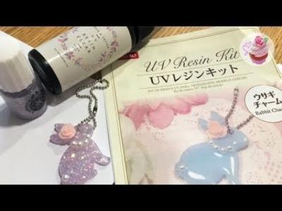 ℜesin glitter bunny charm (Daiso DIY kit)