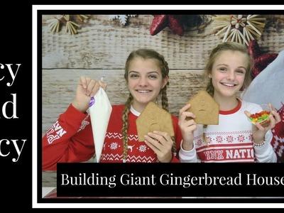 Giant Gingerbread House Challenge ~ Jacy and Kacy