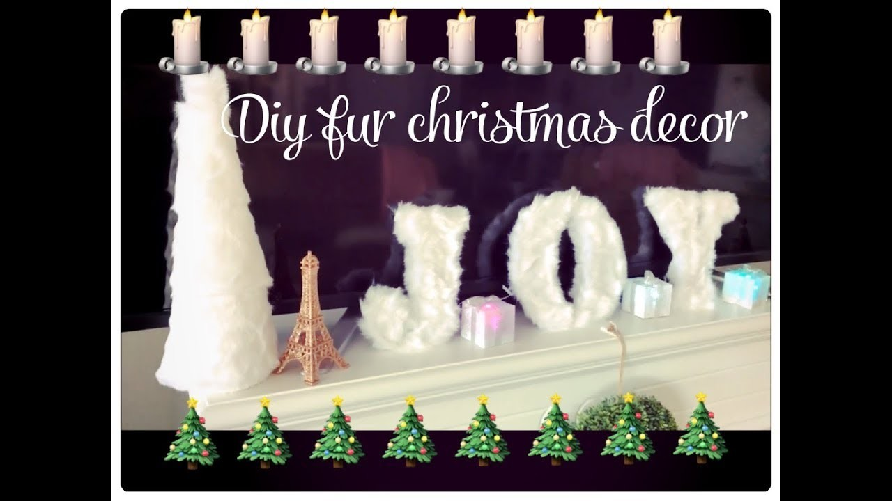 GLAM CHRISTMAS HOME DECOR -DIY FUR CHRISTMAS TREE AND LETTERS