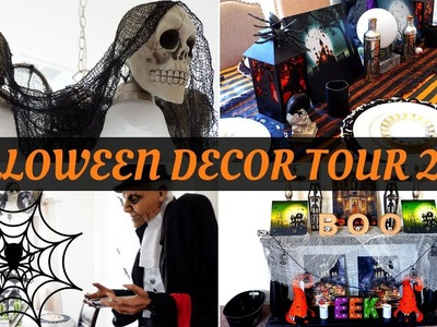 HALLOWEEN DECOR TOUR 2017 + DECORATE WITH ME!