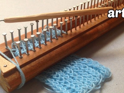 Homemade Knitting Loom and Needle