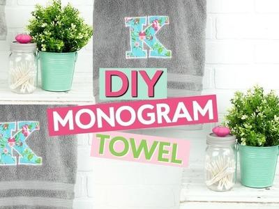 HOW TO APPLIQUE | DIY MONOGRAM TOWEL