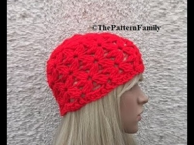 How to Crochet a Beanie Hat Pattern #113│by ThePatternfamily