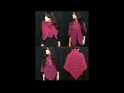 How to Crochet a Triangle Shawl Pattern #91│by ThePatternfamily