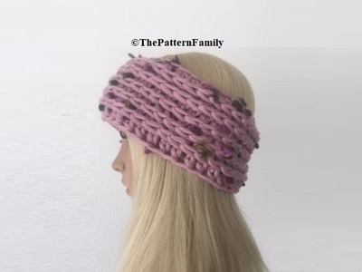 How to Crochet Camel Stitch Earwarmers. Headband Pattern #101│by ThePatternfamily