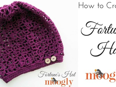 How to Crochet: Fortune's Hat (Left Handed)