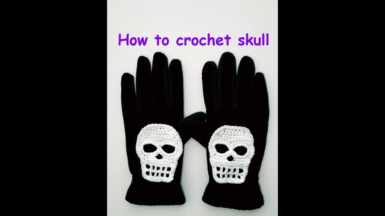 How to crochet Halloween skull