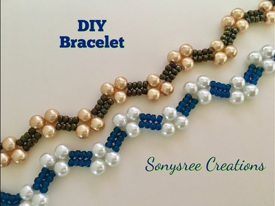 How to:- DIY Zigzag Heart ❤️ Bracelet