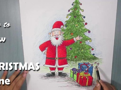 How to Draw a Christmas Scene with Oil Pastel