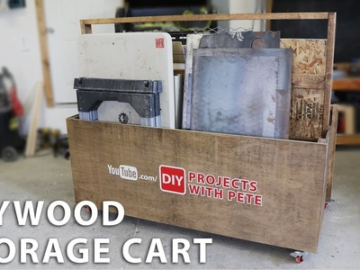 How to Make a Plywood Storage Cart to Organize your Garage