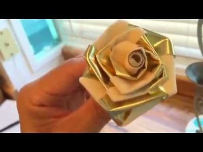How to make a ribbon rose- wedding decorations